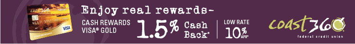1.5%  Cash Back on Visa Cash Rewards Credit Card. Low Rate of 10% APR.