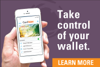 Take control of your wallet. Click here to learn more about CardValet.