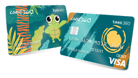 Kids360 and Teen360 debit card and id