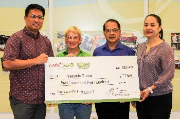 i*Recycle Guam receives $5,500 for the purchase of recycle bins for 5 GDOE schools on island.